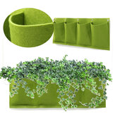 4 Pockets Outdoor Indoor Wall Mount Window Garden Vertical Green Hanging Aeration Planter Grow Bag