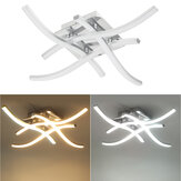 Moden LED 4 Light Indoor Ceiling Lights Satin Nickel Kitchen Bedoom Lamp AC85-265V