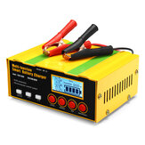 12V/24V Smart Automatic Car Motorcycle Battery Charger LCD Pulse Repair AGM Lead Acid