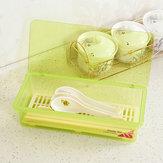 Wielofunkcyjne plastikowe naczynia kuchenne Pałeczki Łyżka Widelec Schowek z pokrywą Drop Water