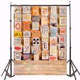 3x5ft Alphabet Picture Board Children Photography Vinyl Background