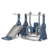 ホーム幼稚園の子供たちのギフトのためのバスケットボールフープパークおもちゃと3-in-1多機能赤ちゃん屋内安全スライド