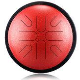 HLURU 10 Inch Tono 8 Tono japonés Tambor de viaje Tambor etéreo Tambor de lengua de acero Instrumento de percusión de ocio Yoga Meditación Sartén manual