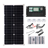 Semi-Flexible Solar Power Panel System kit Solar Panle Type-C USB Dual DC Port 5V/12V/18V W/ Solar Charge Controller