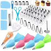 72Pcs Cake Decorating Tools Set DIY Cake Piping Tips Turntable Rotating Cake Tools