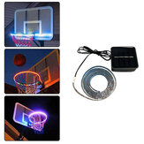 Basketball Hoop Sensor-Activated RGB 45 LED Solar Strip Light 8 Flash Modes Lamp