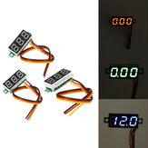 0,28 Zoll Mini Digital Batterie Spannungsprüfer Voltmeter DC 0-100V 3 Kabel mit Schutz