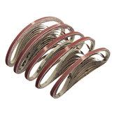 10pcs 10x600mm Sanding Belts 60-600 Grit Abrasive Tools