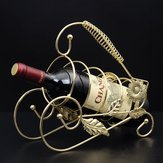 Retro champagne vino decoración accessaries de vino titular de botellero casa