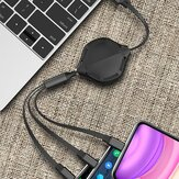3 in 1 Pull Retractable USB Cable Multifunction Cable Charger