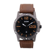 DOM Men Luxury Sport Jam Tangan Men Perhiasan Kulit Strap Bisnis Waterproof Quartz Watch