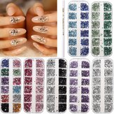 3D Round Glitter Rhinestone Bead  Wax Picker Pencil Diamant Gems Manicure Nail Art Tool