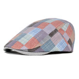 Unisex Plaid Beret Simple Retro England Style visor