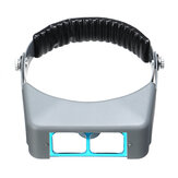 Headband Magnifier Eyewear Optivisor Free Magnifying Lens With 4 Glass Lens Set