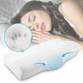Travesseiro ortopédico de espuma viscoelástica para dores no pescoço e ombros Travesseiro em formato de borboleta com camada extra de espuma