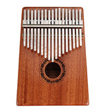 17 Keys Kalimbas High-Quality Thumb Piano Wood Mahogany Body Musical Instrument With Learning Book Tune Hammer For Beginner