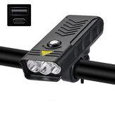 XANES® LV-F004 3 / 5xT6 Bisiklet Far USB Şarj Edilebilir MTB Bisiklet LED Ön Lamba 4 Mod Su Geçirmez El Feneri Güç Bankası