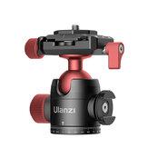 Ulanzi U-70 Cabeça de bola de tripé de sapato frio de metal criativo com placa de liberação rápida para câmera DSLR