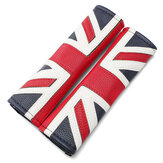 2PCS Union Jack Carbon Fiber Car Seat Belt Shoulder Pads For BMW Mini Coupe