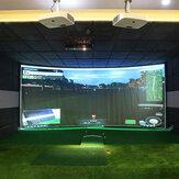 Piłka golfowa Simulator Ekran projekcyjny z wyświetlaczem uderzeniowym Gra wewnętrzna Specjalna tkanina do gry w golfa