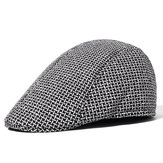 Men's Winter Spring Double-layer Warm Peaked Cap Forward Hat