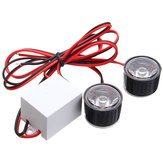 12V-80V Motorcycle LED Round Burst Flash Strobe Car Eagle Eye Lights Czerwony Niebieski Biały