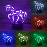 3D LED Lamp 7 Color Horse Shape USB Charge Visual Night Light Touch Bottom Home Office Desk Decor Gift Supplies