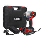 Mensela EW-L1 3In1 18V 3500RPM 380N.M Brushless Impact Wrench 3 Speeds Wireless Rechargeable Screwdriver Drill W/ None/1/2 2.0AH Battery & LED Working Light