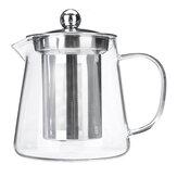 Bule de vidro Jarro transparente resistente ao calor com infusor Coffee Tea Pot 450/550 / 750ML