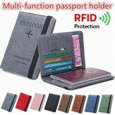 RFID Blocage Voyage Multifonctionnel Fentes Pour Cartes Passeport De Stockage Sac Portefeuille