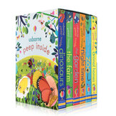 6 Books/set English Painting Book Educational 3D Flap Picture Books Baby Children Reading Book for Children Gifts