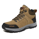 Men Outdoor Suede Slip Resistant Soft Sole Casual Hiking Boots