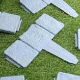 20Pcs Garden Fence Edging Cobbled Stone Effect Plastic Lawn Edging Plant Border Decorations