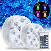 Svømmebasseng Light LED Undervanns Remote RGB Control Multi Color Fountain Light