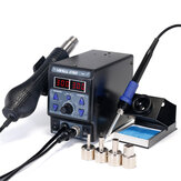 YIHUA 8786D Saya Meng-upgrade Stasiun Pengeboran Tampilan Digital Besi SMD Heat Hot Air Soldering Station Welding