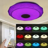 40CM Bluetooth WiFi APP LED Plafonnier RGB Musique Haut-Parleur Lampe Dimmable + Télécommande