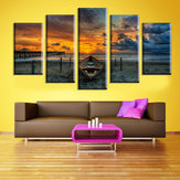 5  Cascade The Sea Sunset Canvas Wall Painting Picture Home Decoration Without Frame Including Insta