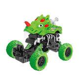 Green Dinosaur Pull Back Car Plastic Toys Binnenspeelgoed voor kinderen