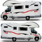 Motorhome Stripes Lado Corpo Adesivo Gráficos Vinil Decalque Camper Caravan Horsebox