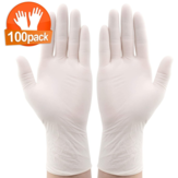 IPRee® 100*Pcs Disposable Nitrile BBQ Gloves Waterproof Safety Glove Disposable Gloves Protective Gloves