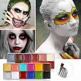 IMAGIC 12 kleuren Flash Tattoo gezicht lichaam verf olieverfschilderij kunst gebruik in Halloween Party Fancy Dress Beauty Makeup Tool