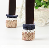4PCS Cloth Table Feet Pad Anti Scratch Table Leg Cover Lace Feet Antiskid Chair Floor Protector