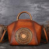 النساءجلدطبيعيخمرالطوطممصمم حقيبة يد