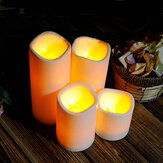 Cylindrical Flickering LED Candle Light Flameless Garden Yard Christmas Lamp Decoration