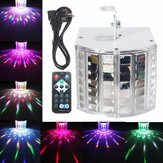 18W LED RGB Sound Activated DMX512 Strobe Effect Stage Light DJ Disco Bar Party