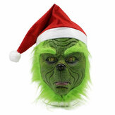 Latex Cosplay For The  Grinch Cosplay Mask Adult Costume Helmet Halloween Party