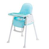 Cadeiradobrávelportátildascriançasdas crianças cadeira alta ajustável da criança de Bady que come o assento de alimentação de jantar da refeição com coxim da roda