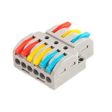 LT-633 Quick Wire Connector 3 Input 6 Output Electrical Splitter Universal Cable Conductor Terminal Block for LED Light