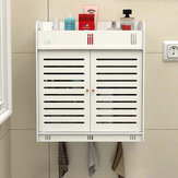 Bathroom Wall Mounted Storage Rack Towels Shower Gel Shampoo Organizer Home Office Living Room Kitchen Furniture