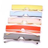 Metalowe okulary przeciwsłoneczne mężczyźni kobiety cukierki kolor Retro kwadratowe okulary przeciwsłoneczne Anti-UVA Anti-UVB
